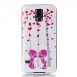 Pouzdro / Obal - Galaxy S5 - Srdíčka