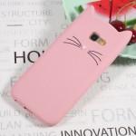 Pouzdro Galaxy A3 (2017) - Kočka - růžová