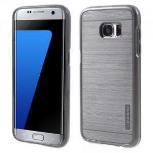 Kryt / Obal Galaxy S7 Edge - šedý broušený vzor