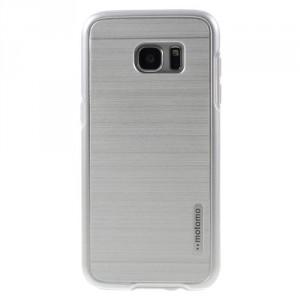 Kryt / Obal Galaxy S7 Edge - stříbrný broušený vzor