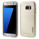 Kryt / Obal Galaxy S7 Edge - zlatý broušený vzor
