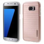 Kryt / Obal Galaxy S7 Edge - růžový broušený vzor