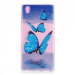 Pouzdro Sony Xperia L1 -  průhledné - Motýli