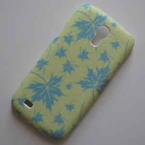 Zadní kryt/Obal Galaxy S4 Mini i9190 - Třpytivé podzimní listí - Modré/Světle Zelené