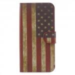 Koženkové pouzdro Zenfone Go ZB500KL - Vlajka USA