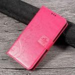 Koženkové pouzdro Lenovo K6 Note - Květy a motýli - růžové