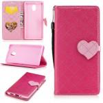 Pouzdro Nokia 3 - Růžové se srdíčkem