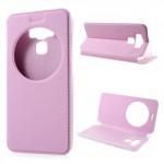 """Pouzdro S-view Zenfone 3 Max ZC553KL (5.5"""") - světle růžové"""