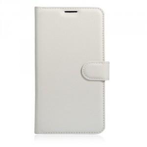 "Koženkové pouzdro Zenfone 3 Max ZC553KL (5.5"") - bílé"