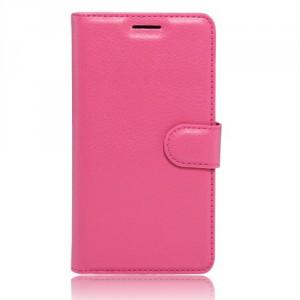 """Koženkové pouzdro Zenfone 3 Max ZC553KL (5.5"""") - tmavě růžové"""