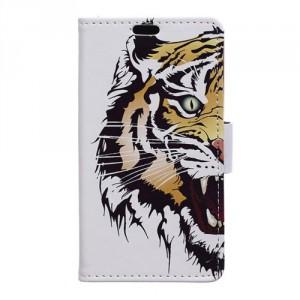 """Koženkové pouzdro Zenfone 3 Max ZC553KL (5.5"""") - Tygr"""