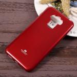 """Pouzdro Jelly Case Asus Zenfone 3 Max ZC553KL (5.5"""") - červené lesklé třpytivé"""