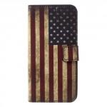Koženkové pouzdro Honor 6A - Vlajka USA
