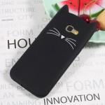 Pouzdro / Obal Galaxy A5 (2017) - Kočka - černé
