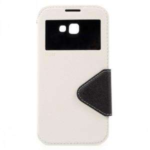 Koženkové pouzdro S-view Galaxy A5 (2017) - bílé