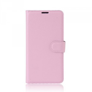 Koženkové pouzdro Lenovo K6 Note - světle růžové 02