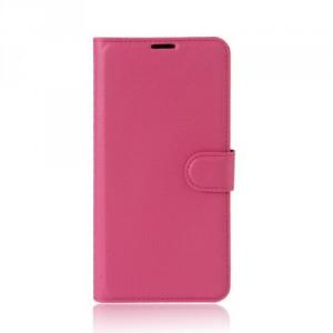 Koženkové pouzdro Lenovo K6 Note - tmavě růžové 02