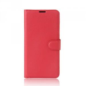 Koženkové pouzdro Lenovo K6 Note - červené 02