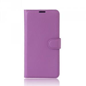 Koženkové pouzdro Lenovo K6 Note - fialové 02