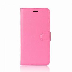 Koženkové pouzdro LG Q6 - Tmavě růžové