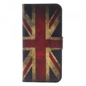 Koženkové pouzdro LG Q6 - Union Jack