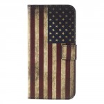 Koženkové pouzdro LG Q6 - Vlajka USA