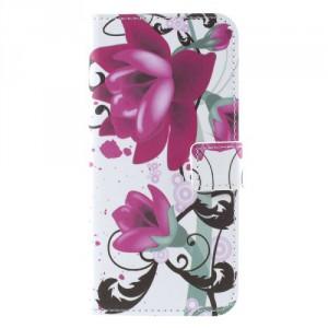 Koženkové pouzdro LG Q6 - Květy 02