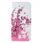 Koženkové pouzdro LG Q6 - Květy 03