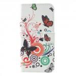 Koženkové pouzdro LG Q6 - Motýli 01