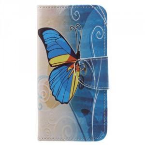 Koženkové pouzdro LG Q6 - Motýl 03