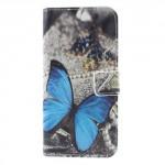 Koženkové pouzdro LG Q6 - Motýl 04