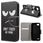 Koženkové pouzdro LG Q6 - Don't touch my phone