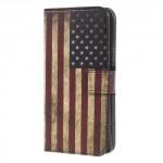 Koženkové pouzdro Xperia XA1 - Vlajka USA