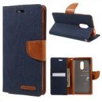 Pouzdro Canvas Diary Xiaomi Redmi Note 4 - tmavě modré