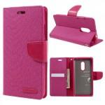 Pouzdro Canvas Diary Xiaomi Redmi Note 4 - růžové