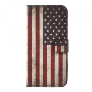 Koženkové pouzdro Nokia 3 - Vlajka USA