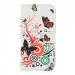 Koženkové pouzdro Nokia 3 - Motýli 03