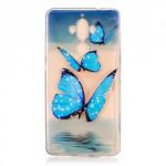 Pouzdro / Obal Huawei Mate 9 - průhledné - Motýli