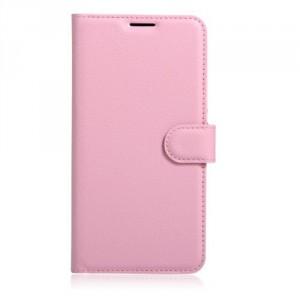 Koženkové pouzdro LG K10 2017 - Světle růžové
