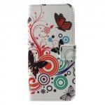 Koženkové pouzdro Nokia 5 - Motýli 03