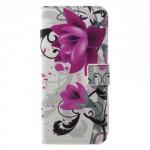 Koženkové pouzdro Nokia 5 - Květy 03