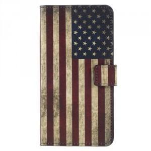 Koženkové pouzdro Zenfone 4 Max ZC554KL - Vlajka USA