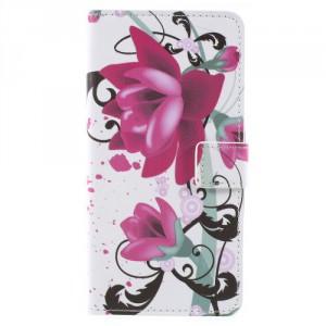 Koženkové pouzdro Zenfone 4 Max ZC554KL - Květy 03