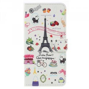 Koženkové pouzdro Zenfone 4 Max ZC554KL - Eiffelovka