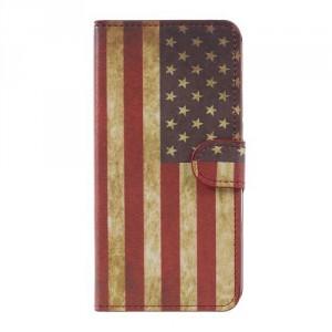 Koženkové pouzdro Doogee Y6 - Vlajka USA