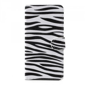 Koženkové pouzdro Doogee Y6 - Zebra