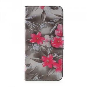Koženkové pouzdro Doogee Y6 - Květy 02