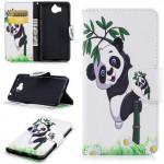 Koženkové pouzdro Huawei Y6 2017 - Panda 01