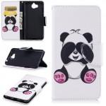 Koženkové pouzdro Huawei Y6 2017 - Panda 02
