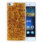 Pouzdro / Obal Huawei P8 Lite - Zlaté třpytivé